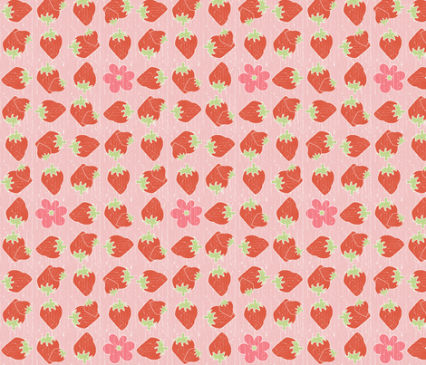 country_gathering_strawberries fabric by christiem on Spoonflower - custom fabric