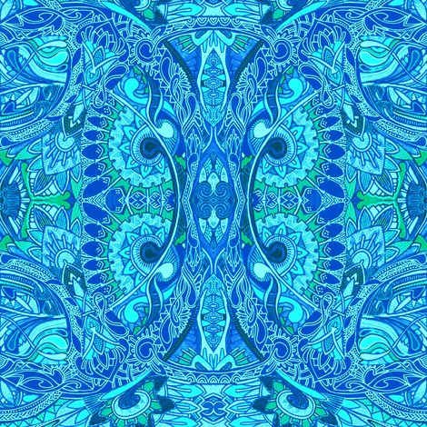 Circle of Life (blue and more blues) fabric by edsel2084 on Spoonflower - custom fabric