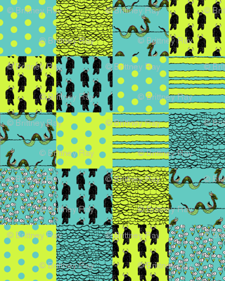 Sea Serpent Cheater Quilt