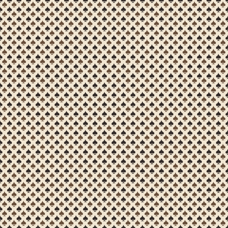 Chocolate Spades fabric by siya on Spoonflower - custom fabric