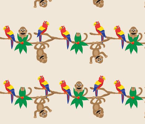 Peek A Boo Rainforest fabric by jenniferfranklin on Spoonflower - custom fabric
