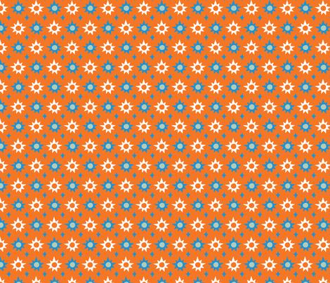 Big & Bright Stars - orange fabric by acbeilke on Spoonflower - custom fabric