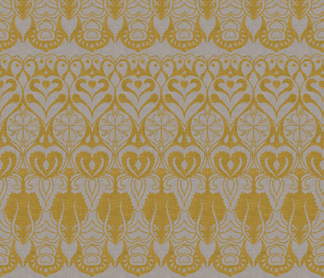 burlap_and_springtime fabric by holli_zollinger on Spoonflower - custom fabric