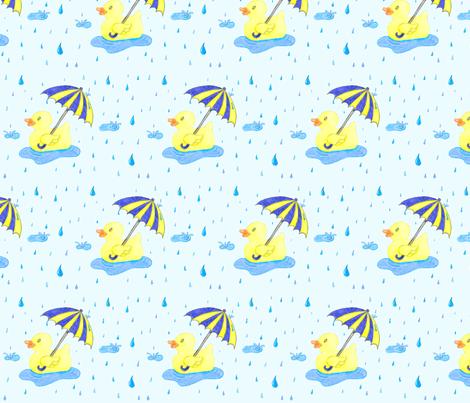 Rubber_Duckie_in_the_Rain fabric by jen-etic on Spoonflower - custom fabric