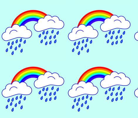 Rain-Rainbow fabric by bavv on Spoonflower - custom fabric