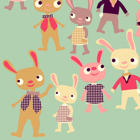 Bunny Bunch fabric by heidikenney on Spoonflower - custom fabric
