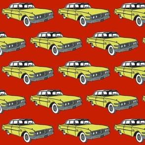 1960 Edsel Ranger 2 door sedan yellow on red
