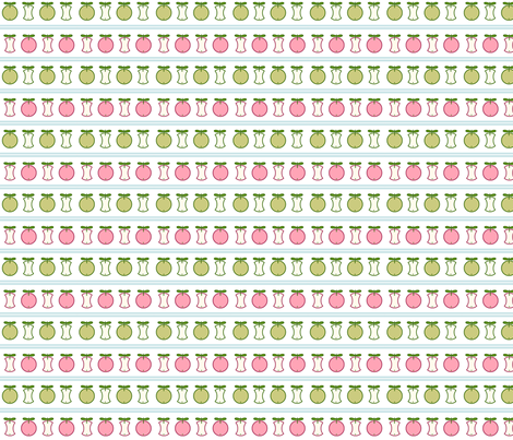 An apple a day ... - red and green Apples with light blue Stripes fabric by sonstnochwas on Spoonflower - custom fabric