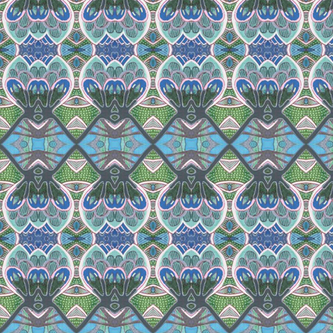 Contemplations on an Art Deco Artichoke fabric by edsel2084 on Spoonflower - custom fabric