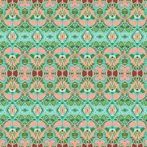 Sunny Day Salmon fabric by edsel2084 on Spoonflower - custom fabric