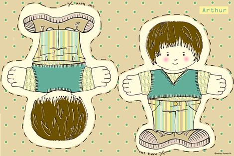 Arthur Doll fabric by woodledoo on Spoonflower - custom fabric