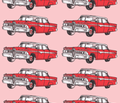 red 1959 Edsel Ranger on pink background