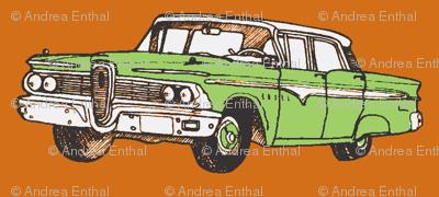 1959 Edsel Ranger 4 door hardtop, green on rust