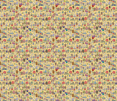 Springish Houses fabric by catru on Spoonflower - custom fabric