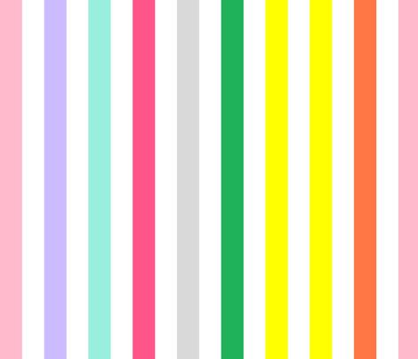 Pastel Rainbow Vertical 2 fabric by missbrache on Spoonflower - custom fabric