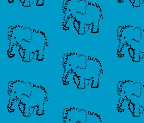 Elephant fabric by blue_jacaranda on Spoonflower - custom fabric