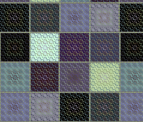 © 2011 Quilt Pattern 2 Blues fabric by glimmericks on Spoonflower - custom fabric