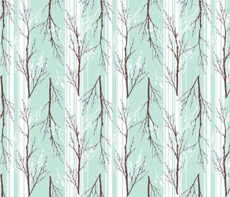 LaraGeorgine_Striped_Branches_ fabric by larageorgine on Spoonflower - custom fabric
