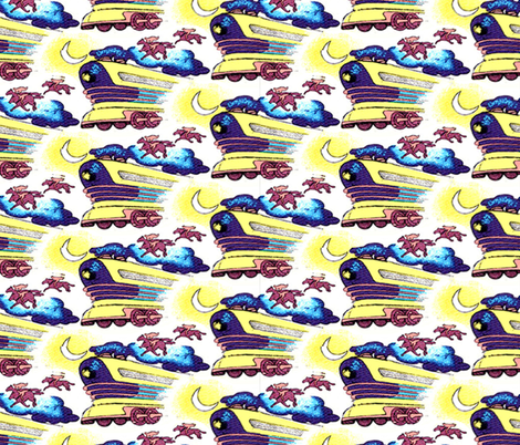 Back to the Future Doc Brown shirt fabric by pseudolus on Spoonflower - custom fabric