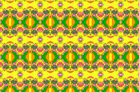 Yellow Lotus Pods fabric by snazzyfrogs on Spoonflower - custom fabric
