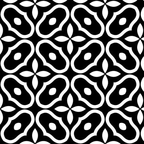 Mosaic - Black fabric by inscribed_here on Spoonflower - custom fabric