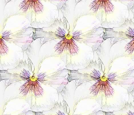 Fairy white violet fabric by vib on Spoonflower - custom fabric