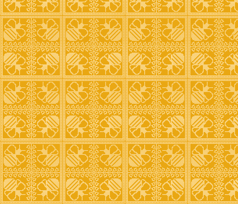Bees Together fabric by nezumiworld on Spoonflower - custom fabric