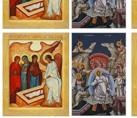 Two Paschal (Easter) Icons fabric by rengal on Spoonflower - custom fabric