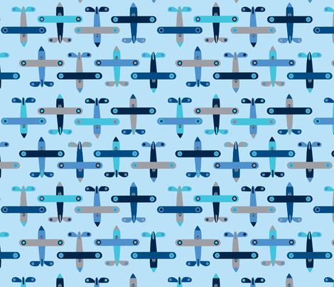 avion_bleu fabric by nadja_petremand on Spoonflower - custom fabric