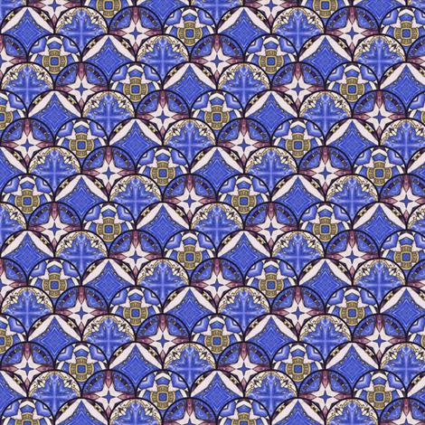 Bandar's Seals - Scalloped fabric by siya on Spoonflower - custom fabric