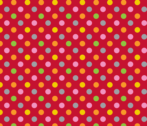 pois_mutico_rouge fabric by nadja_petremand on Spoonflower - custom fabric