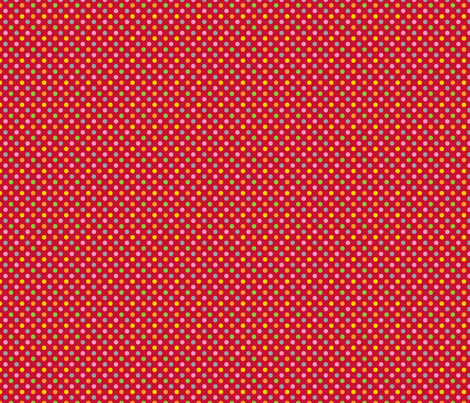 pois_multico_rouge_S fabric by nadja_petremand on Spoonflower - custom fabric