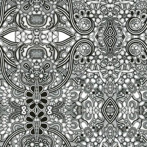 Black and white pattern no.14