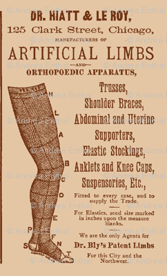 Victorian artificial limbs advertisement