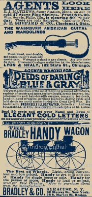 Deeds of Daring Blue & Gray 1890's farm catalog advertisement