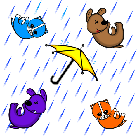 raining cats & dogs fabric by j0nnblaze on Spoonflower - custom fabric