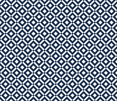 blue diamond fabric by amybethunephotography on Spoonflower - custom fabric