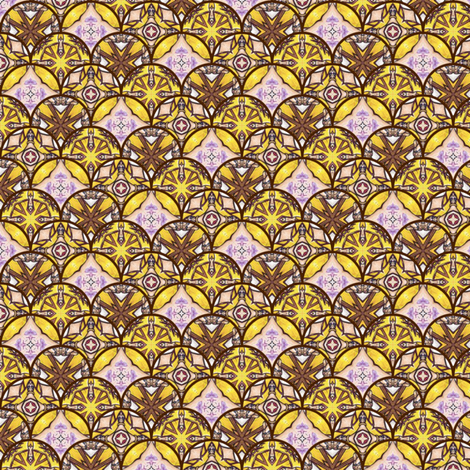 Vrai's Disks - Scalloped fabric by siya on Spoonflower - custom fabric
