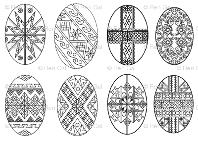 Pysanky Eggs for Pascha; Ukranian  Easter Eggs