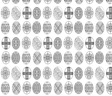 Pysanky Eggs for Pascha; Ukranian  Easter Eggs fabric by rengal on Spoonflower - custom fabric