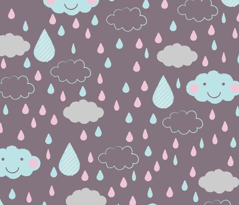 looks like happy rain fabric by mondaland on Spoonflower - custom fabric