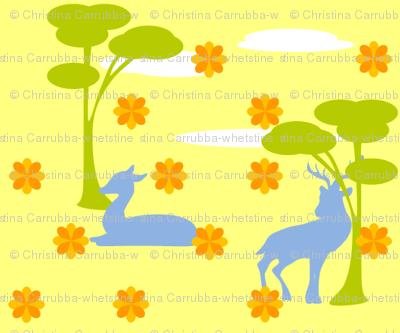 Deer in Sunshine