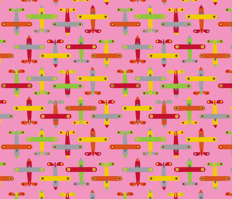 avion_rose fabric by nadja_petremand on Spoonflower - custom fabric