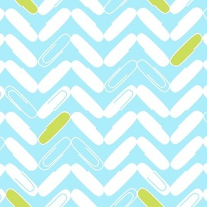 "PAPERCLIP CHEVRON in ""BLUEBIRD"""