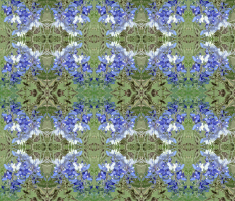 Texas Bluebonnets  fabric by susaninparis on Spoonflower - custom fabric