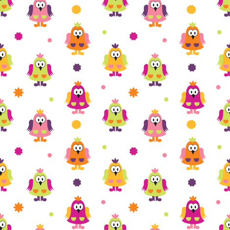 Kidy owls fabric by martinaness on Spoonflower - custom fabric