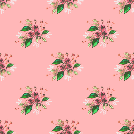 Roses in Pink fabric by joanmclemore on Spoonflower - custom fabric