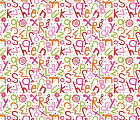 A Soupy Flowerbet fabric by misstiina on Spoonflower - custom fabric