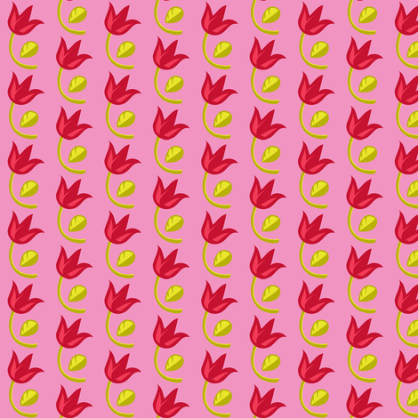 Red tulips fabric by irrimiri on Spoonflower - custom fabric