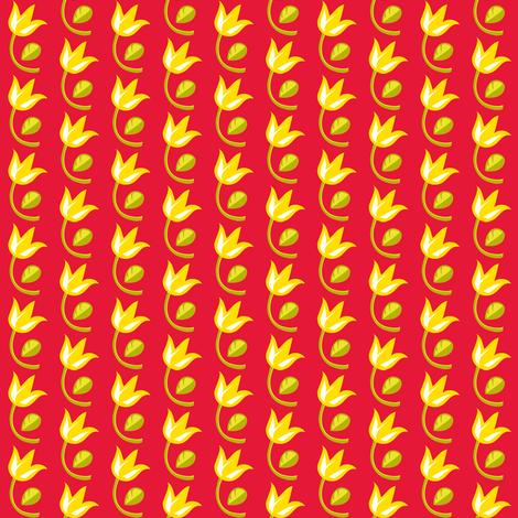 Yellow tulips fabric by irrimiri on Spoonflower - custom fabric